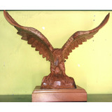Escultura De Águila, Tallada A Mano En Madera De Cedro