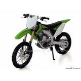 Moto Cross Coleção Trilha Kawasaki Kx 450f Verde 1:12 Maisto