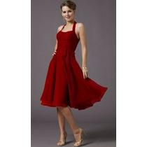 Vestido De Fiesta Guindo Vino Rojo Noche Bodas Vestidos Ch