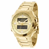 Relógio Technos Análogico E Digital Masculino Dourado