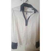 Camisa Blusa Seda Preto Branca 40 Lita Mortari De 790 Reais