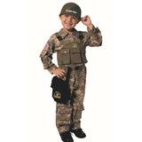 Fantasia Infantil Soldado Das Forças Especiais - 4 A 6 Anos