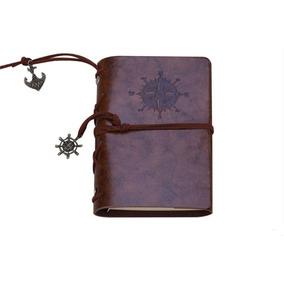 Agenda Caderno Diário Vintage Couro Estilo Fichário
