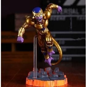 Dragon Ball Super Goku Deus Freeza Dourado Bonecos