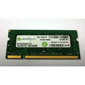 Memoria Ddr2 1gb Sodimm Rendition Pc2-6400 Nueva Oem