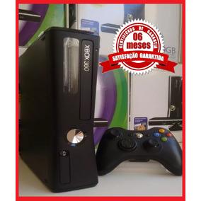 Xbox 360 Slim Na Caixa 4gb + Jogo + Garantia