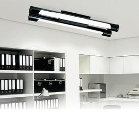 Luminaria Fluorescente/led Tubular 2x20 Preta Kit 5 Unidades