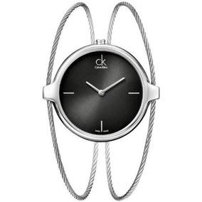 Reloj Calvin Klein Wck418 Plateado Femenino