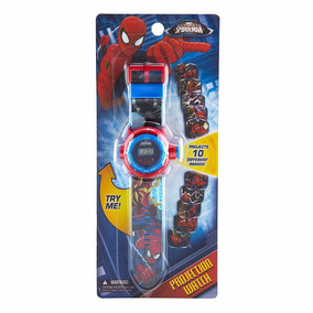 Reloj Hombre Araña Spiderman Con Proyector De Imagen