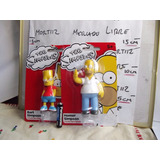 2 Figuras Simpsons Coleccionables Original Homero, Bart