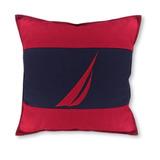 Cojin Decorativo Nautica Almohada Cuadrada Nueva Roja Azul