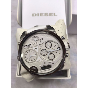 Relógio Diesel Mr. Daddy Multi-time Dz7194 Branco Original