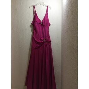 Vestido De Noche Rosa Mexicano