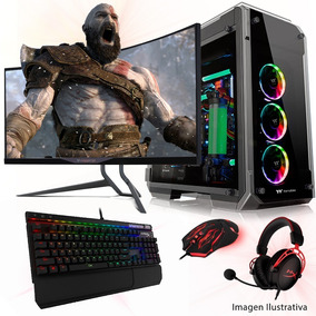 Pc Completa Gamer Amd A4-6300 4gb Ddr3 1tb Placa Xfx 230 1gb