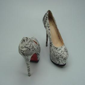 Zapatos Sexys De Mujer Imitacion Vivora