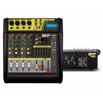 Mesa De Som Amplificada Skp Vz40 Ii Mp3 1600 Watts Bivolt