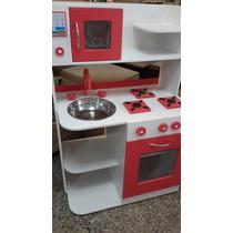 Juego De Cocina Infantil En Madera De Juguete Rincon Casitas