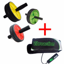 Cinto Vibroaction Ginástica Passiva + Roda De Exercícios