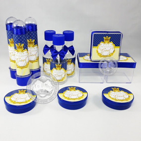 Kit Infantil Personalizado Coroa Realeza Menino