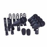 7 Micrófonos Bateria Alctron T8400 Estuche, Clamps Y Envío