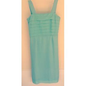 Vestido De Crepe Color Verde T. L, Perfecto