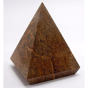 Piramide De Piedra Natural Fosil Caligrafica De La India