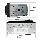 Auto Estereo Bluetooth Mp3 Usb Sd Aux Control Remoto 40x60w