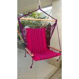 Rede Cadeira Teto Balanço Esponja Com Braço 100% Algodão