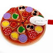 Juguete Pizza Madera Montessori Didacticos Niños Juego Roles