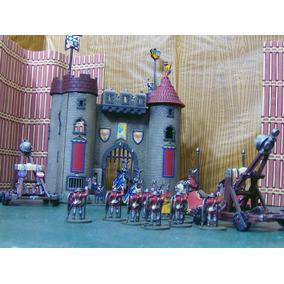 Lote 22 Figura & Castillo Medieval C 2 Catapulta Lee Anunc