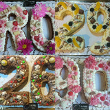 Torta Letra O Numero Decoradas. Cumpleaños, Eventos.
