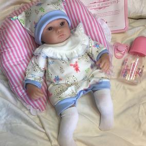Bebê Reborn Boneca Menina Detalhes Reais Presente 12x Ref250