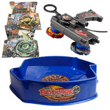 Set De 2 Beyblade Estadio De Duelo Y Lanzador Doble