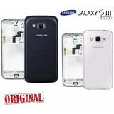 Carcaça + Aro Cromado Galaxy S3 Slim G3812 + Tampa Traseira