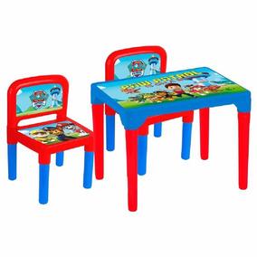 Mesa Infantil Patrulha Canina Original Didatica + 2 Cadeiras