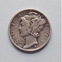 Estados Unidos 10 Centavos 1941 Plata Dime Mb Mk 195