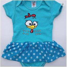 Body Bebê Infantil Personalizado Galinha Pintadinha Azul