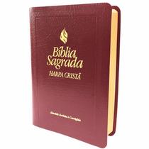 Bíblia Sagrada Harpa Cristã Letra Maior Fonte Benção Marrom