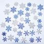 Copos De Nieve Snow Flakes Frozen Goma Eva Con Brillantina