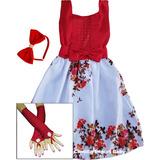 Vestido Infantil Festa Floral 4 Ao 12 Anos Mega Promoção