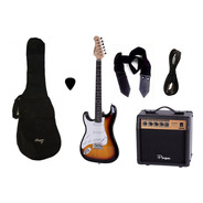 Combo Guitarra Electrica Parquer Sb Zurdo Amplificador 10w