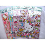 Lote De 10 Planillas De Sticker Hello Kitty