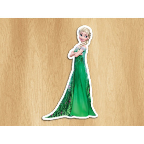 15 Aplique Recorte Papel Frozen Fever Elsa Anna 3,5cm
