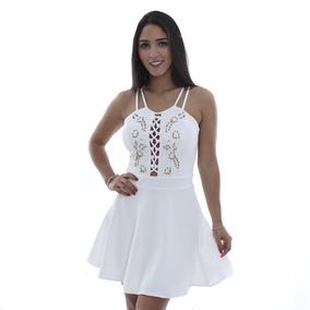 Vestido Godê Com Pedrarias - Rosa Fina