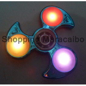 Fidget Spiner Con Luz Color Metalizado Spinner *tienda