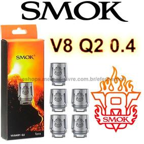5x Smok Tfv8 V8 Baby Resistência Bobina Coil Q2 0.4 Ohm
