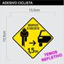 Adesivo Ciclista Ciclismo Bike Pedal - Vários Modelos