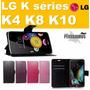 Capinha Carteira Flip Cover Lg K Séries K4 K8 K10 Dual 4g