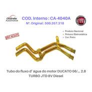 Tubo Dágua Do Motor Ducato 06/... 2.8 Turbo Jtd 8v Diesel