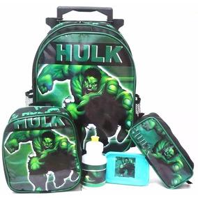 Kit Mochila Infantil Hulk Avengers Rodinhas Tam G - Boleto